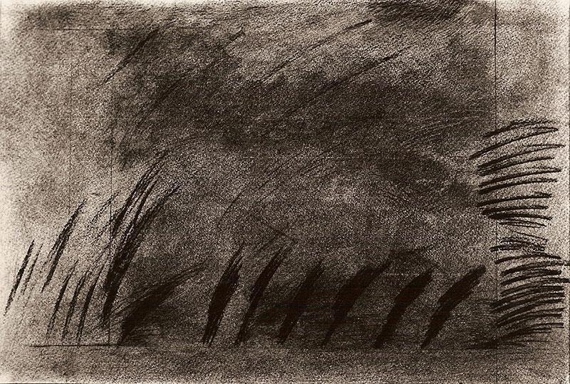 Miércoles, el porvenir no tiene precio, técnica mixta, 48 cm x 73 cm, 1984