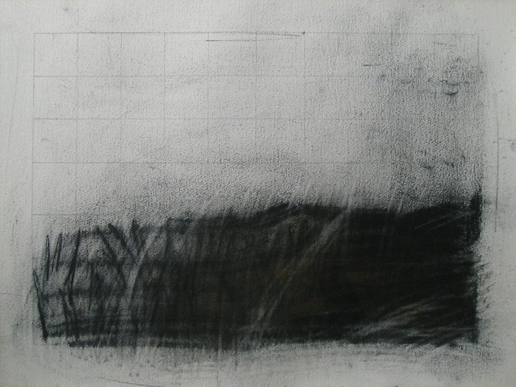 Paisaje I, carbonilla sobre papel, 1984