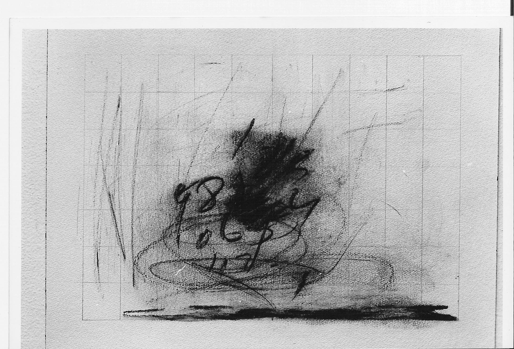 Paisaje III, carbonilla sobre papel, 1984