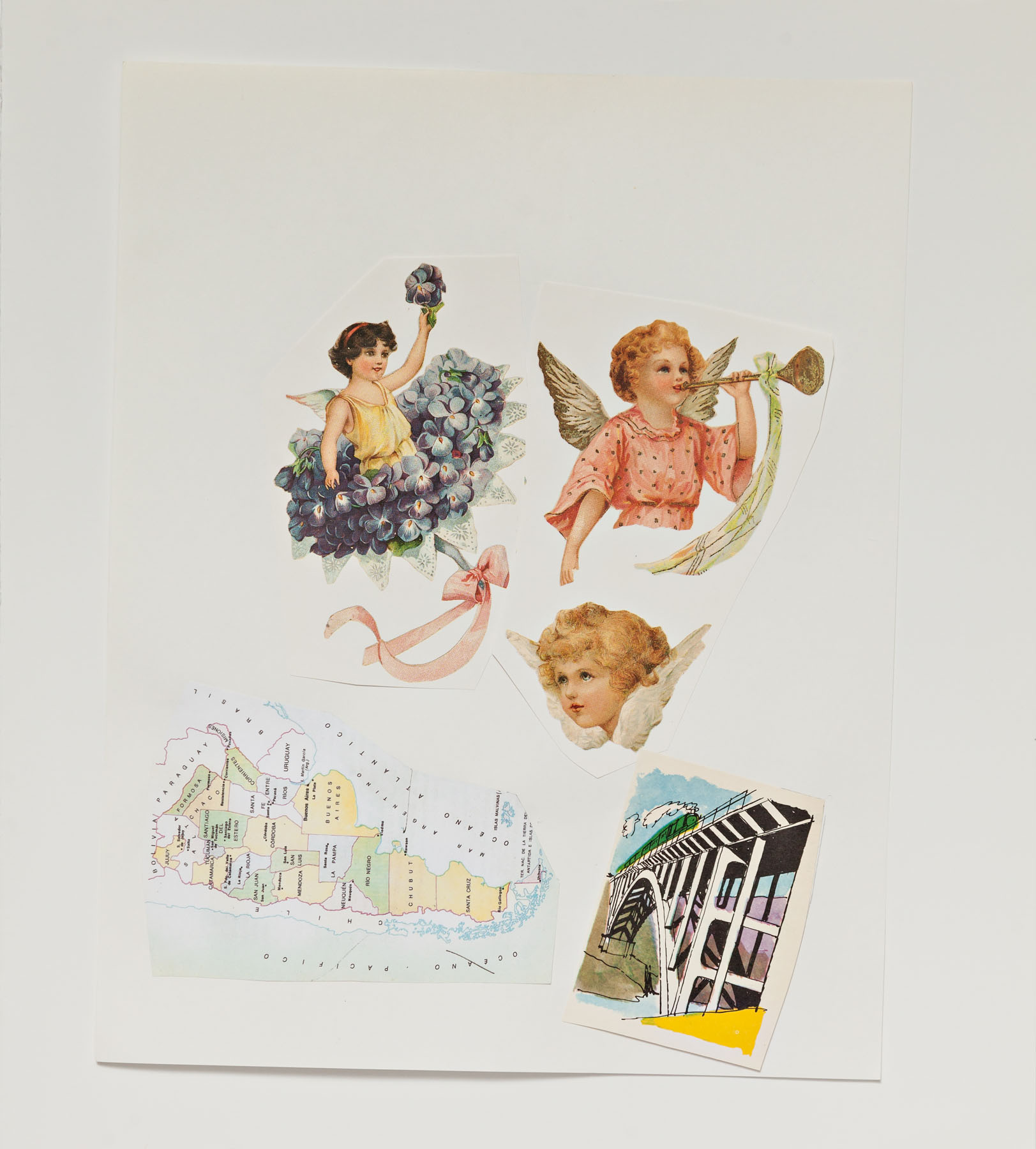 Serie Cuarentena, papel collage, 32,5 cm x 29 cm, 2020