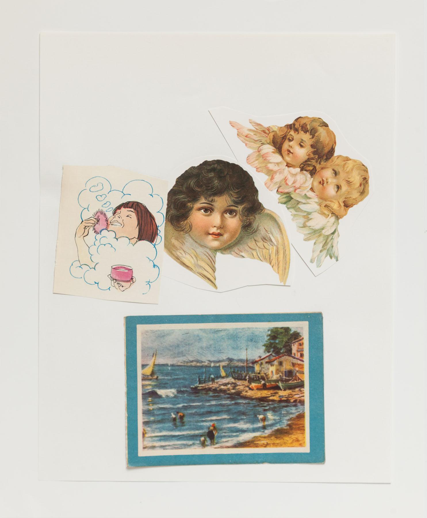 Serie Cuarentena, papel collage, 32,5 cm x 26,5 cm, 2020