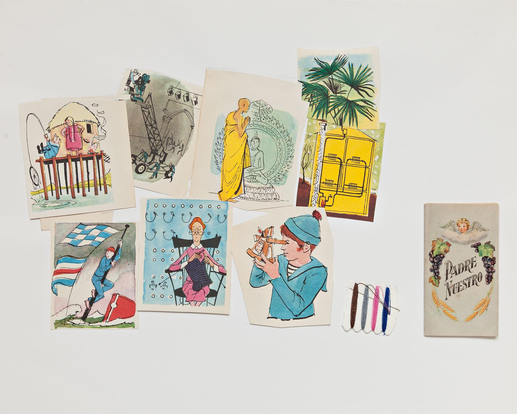 Serie Cuarentena, papel collage, 28 cm x 35 cm, 2020
