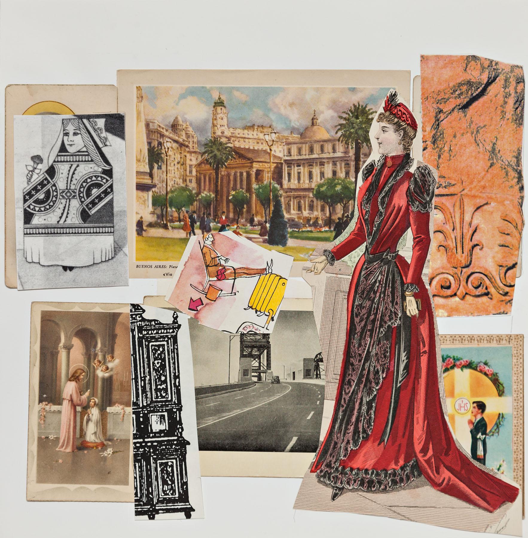 Serie Cuarentena, papel collage, 28 cm x 27 cm, 2020