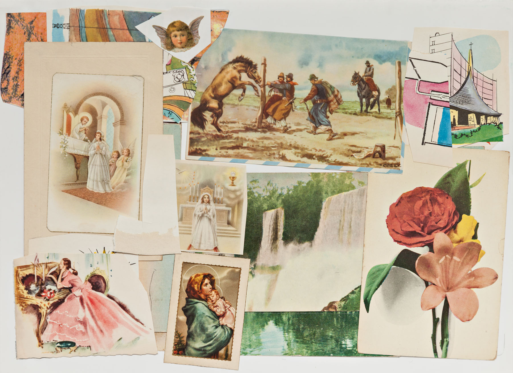 Serie Cuarentena, papel collage, 24 cm x 32, 5 cm, 2020