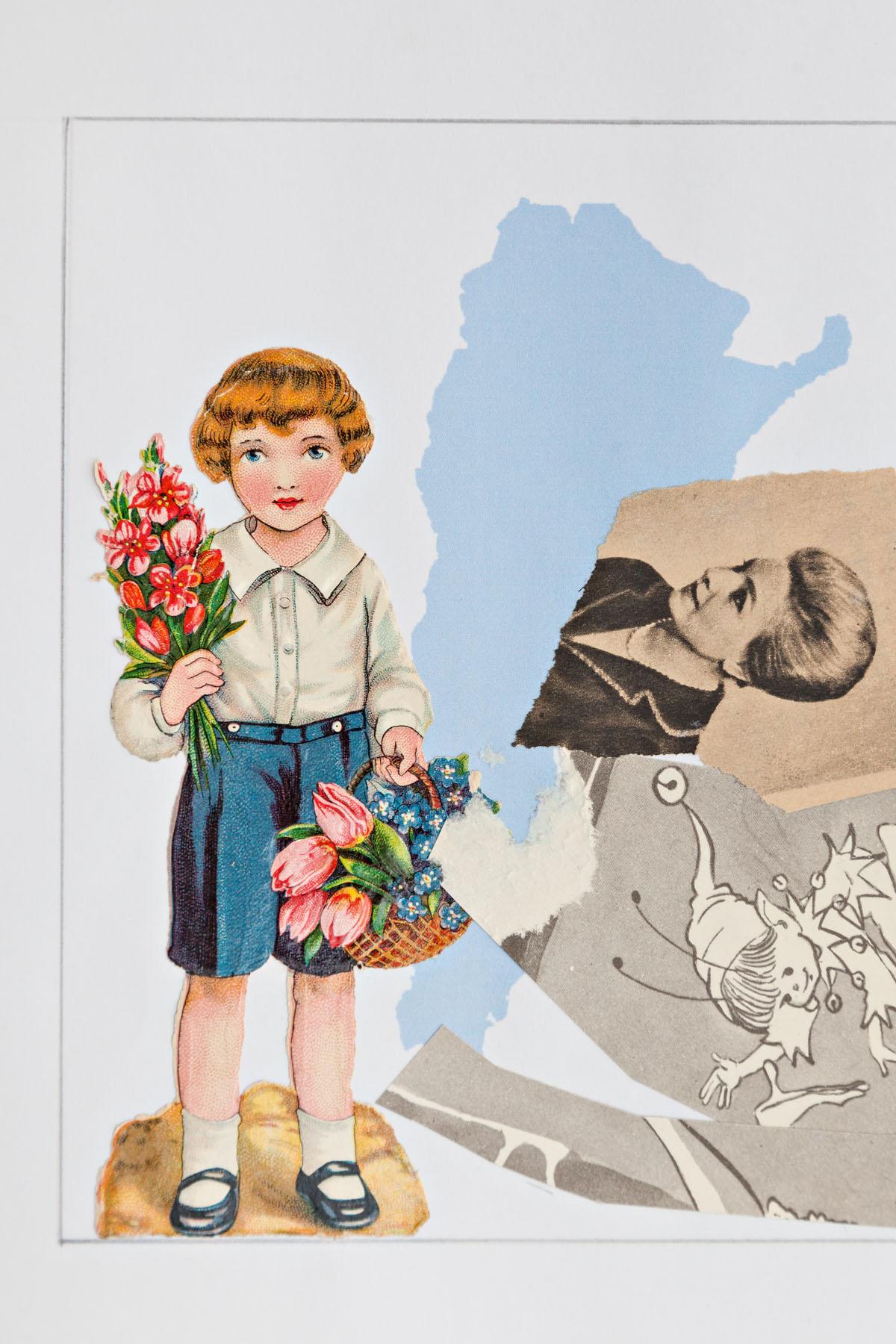Serie verano, papel collage, 35,5 cm x 21,5 cm , 2020