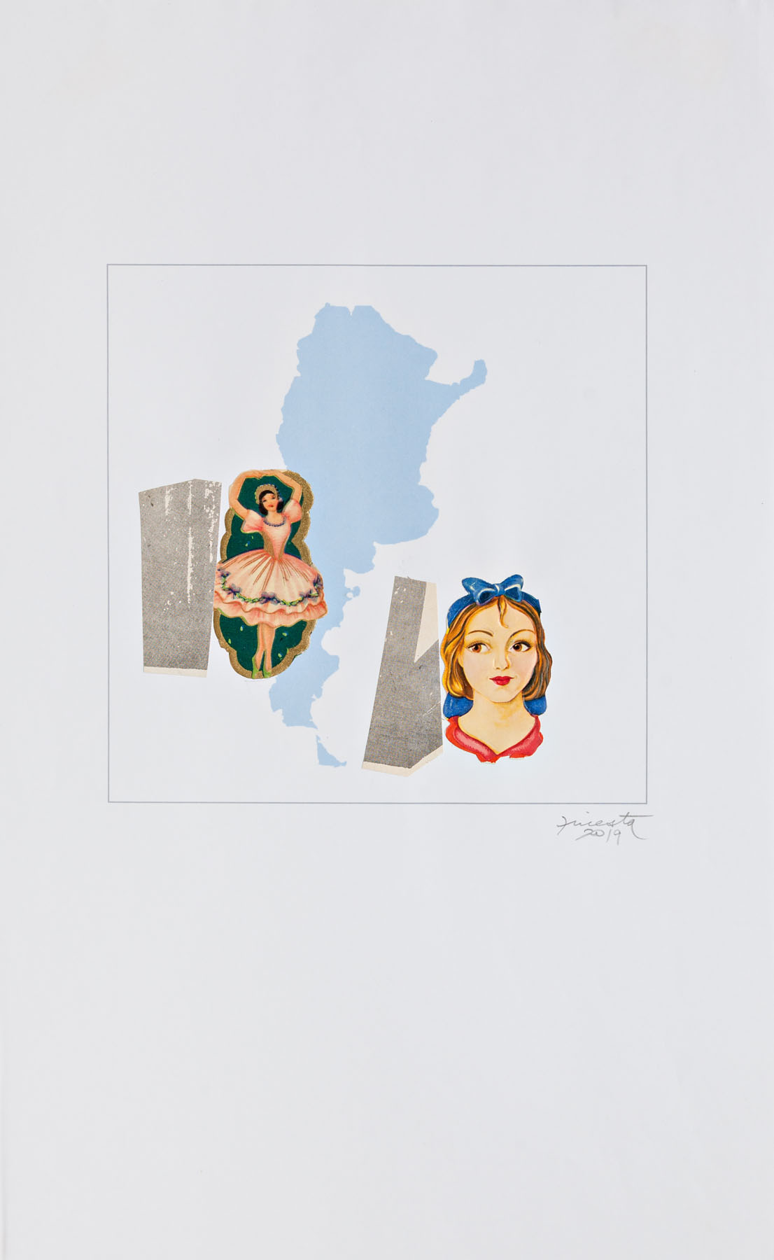 Serie verano, papel collage, 29,7 cm x 19 cm, 2020