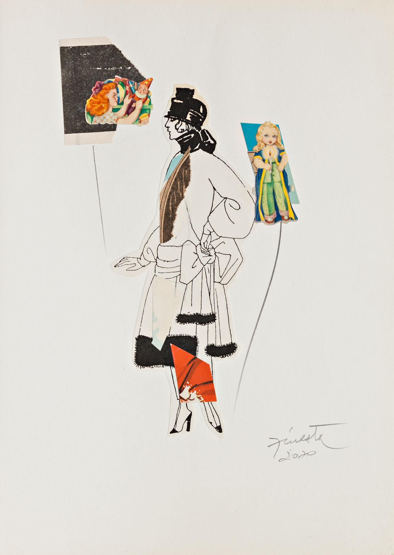 Serie verano, papel collage, 29,5 cm x 21 cm, 2020