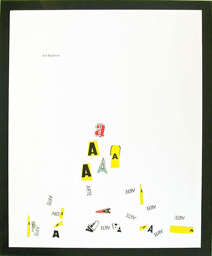 Abecedario-A, papel collage sobre papel, 55 x 45 cm, 1991.