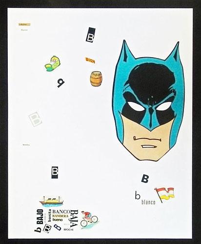 Abecedario-B, papel collage sobre papel, 55 x 45 cm, 1991.