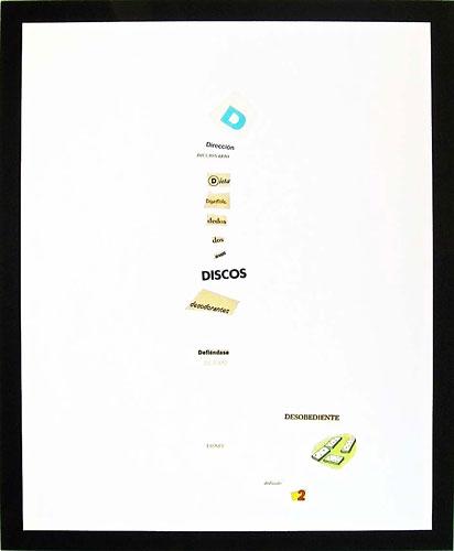 Abecedario-D, papel collage sobre papel, 55 x 45 cm, 1991.