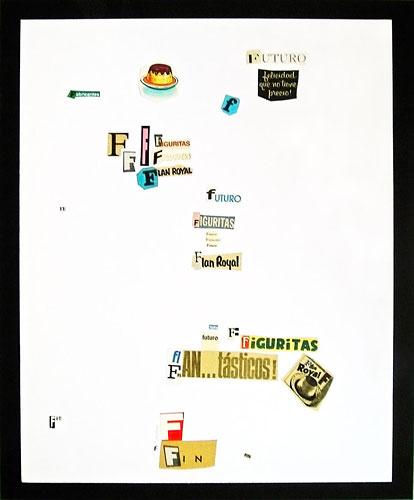 Abecedario-F, papel collage sobre papel, 55 x 45 cm, 1991.
