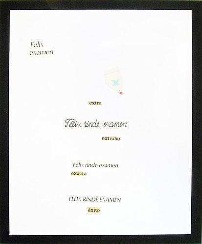 Abecedario-X, papel collage sobre papel, 55 x 45 cm, 1991.