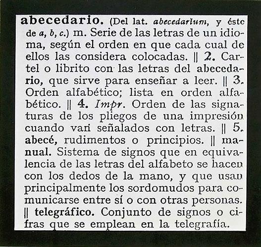 Abecedario, papel collage sobre papel,1991.
