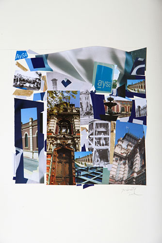 AySA Bicentenario I / Papel collage sobre paspartou. 50,8 x 81,7 cm. 2010.