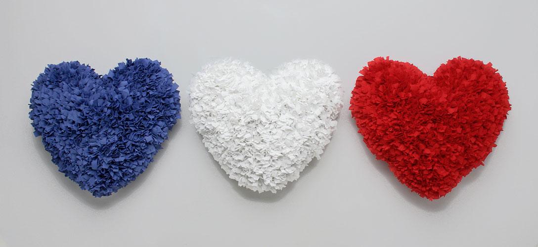 Bleu-Blanc-Rouge, cintas ensambladas, 2004.