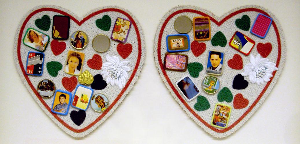 Corazón latino, objetos ensamblados, 2005.