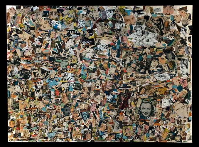 Cotidianeidad, serie, papel collage sobre papel, 2005
