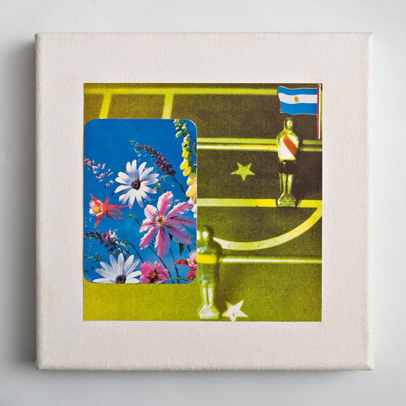 Paisaje III, papel collage sobre tela, 20 x 20 cm, 2006