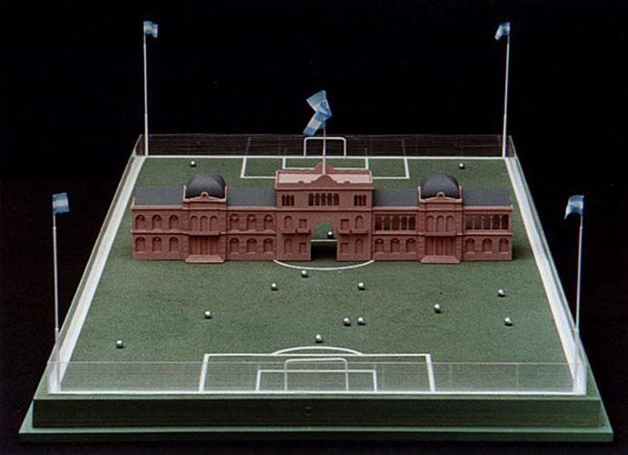 Doble juego, objetos ensamblados, 2006.