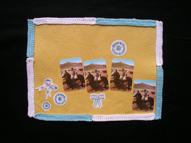 El campo / Papel collage y bordado, 30 x 40 cm. 2006.