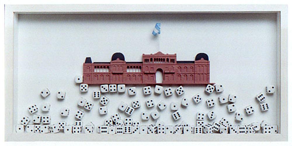 El azar en juego, objetos ensamblados, 2003.