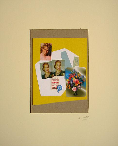 Evita joven I, papel collage, 27.5 x 19 cm, 2007.