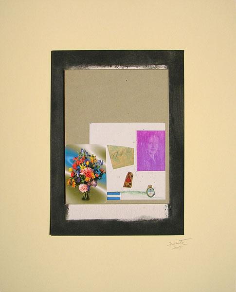 Evita patria II, acrílico y papel collage, 30.5 x 22 cm, 2007.