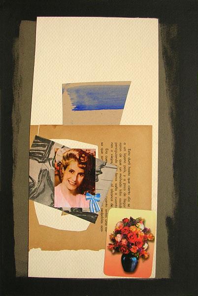 Evita, acrílico y papel collage, 40 x 22 cm, 2007.