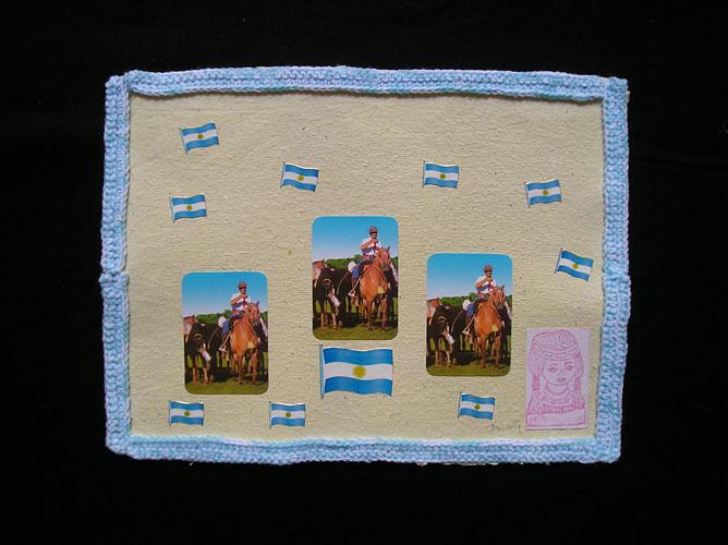Indiecita / Papel collage y bordado, 30 x 40 cm. 2006.