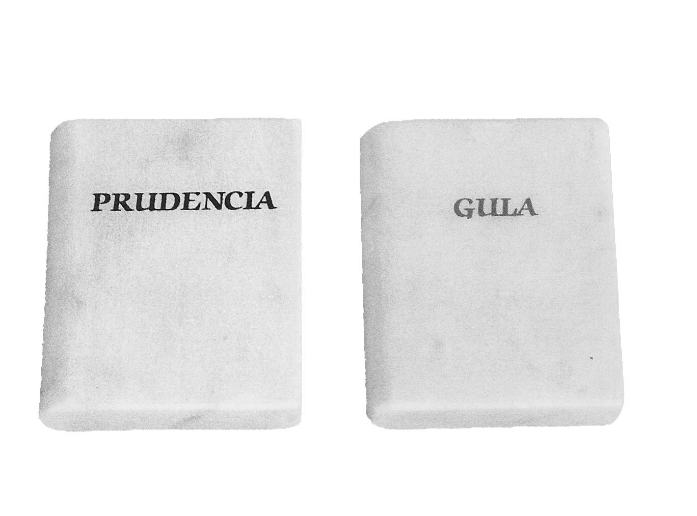 Libros, mármol de Carrara serigrafiados 5x6x2cm