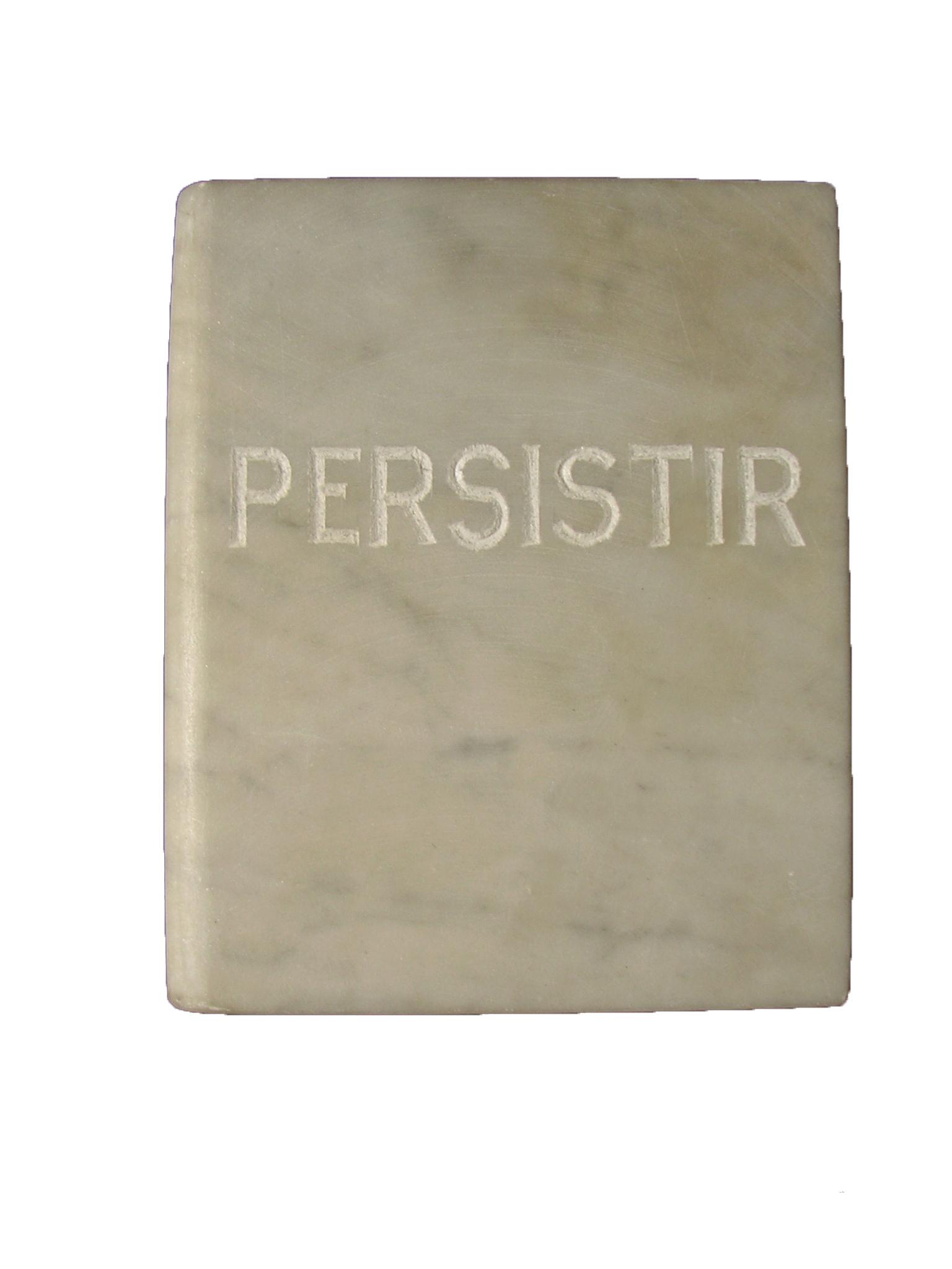 Persistir libro en mármol de carrara blanco 18x3x15cm