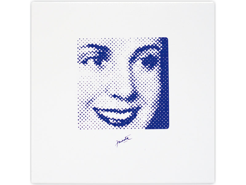 Evita, serigrafía sobre cerámico, 19,5 x 19 cm, 2007