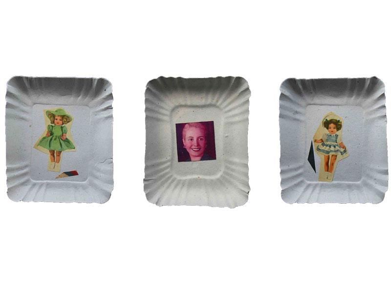 Evita y la infancia I, Papel collage, 2010.
