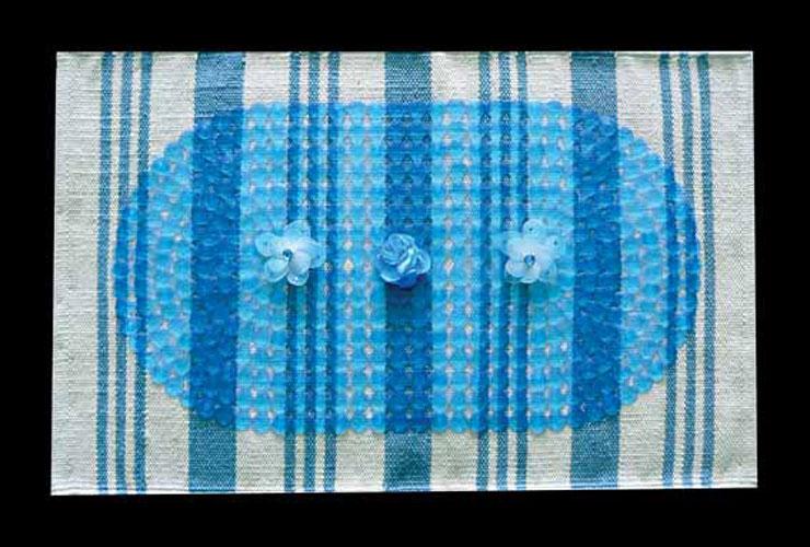 Variaciones I, bandera Argentina, serie, objetos ensamblados, 54,5 x 76 x 5 cm, 2010-2011.
