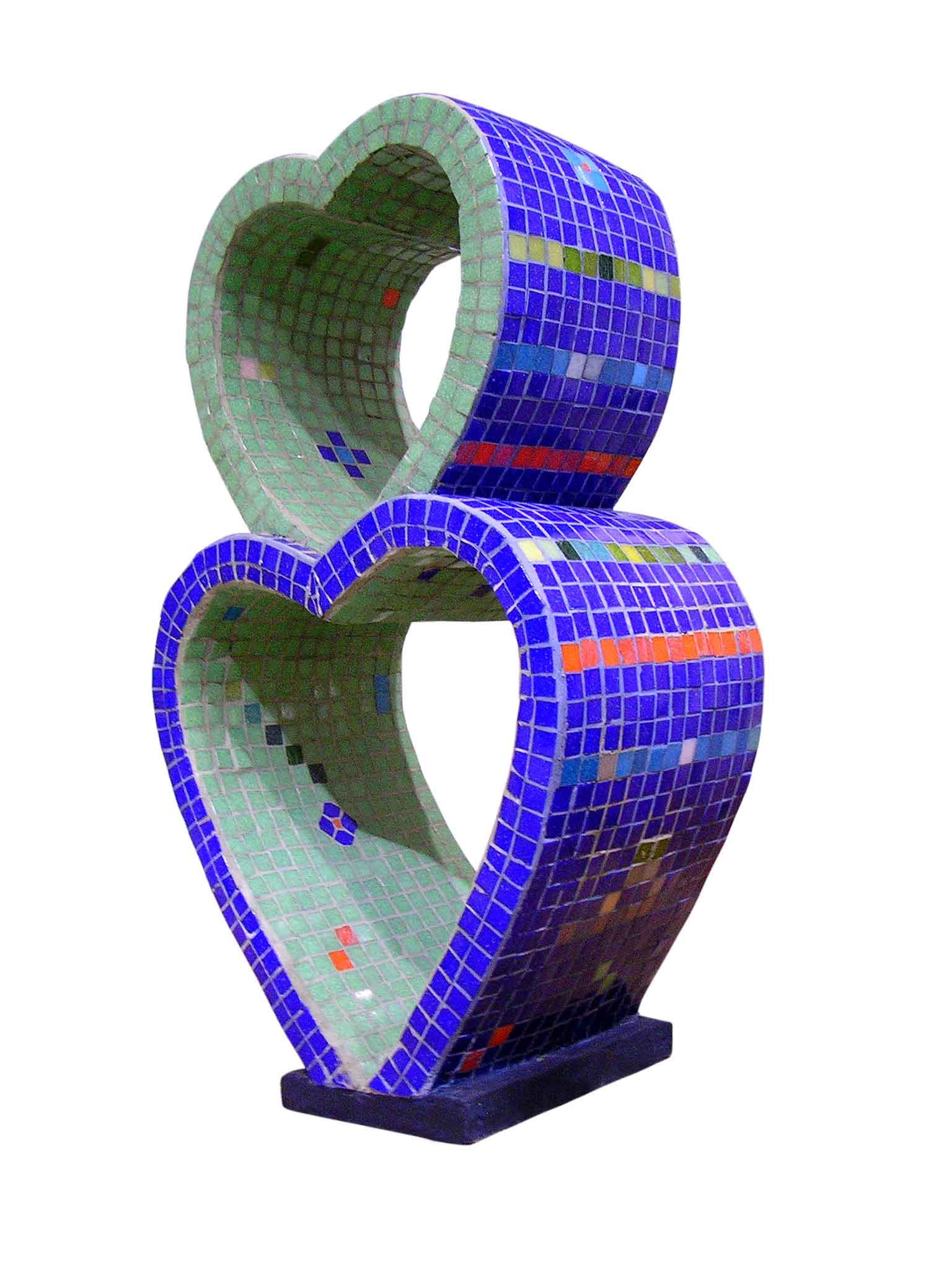 Las sinuosidades del amor, ensamblaje de venecitas, 2004