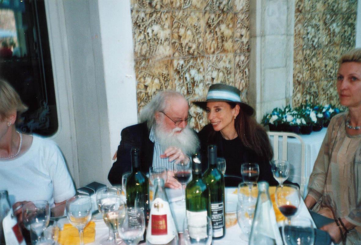 Nora Iniesta con Pierre Restany, Lido 2002 (1)
