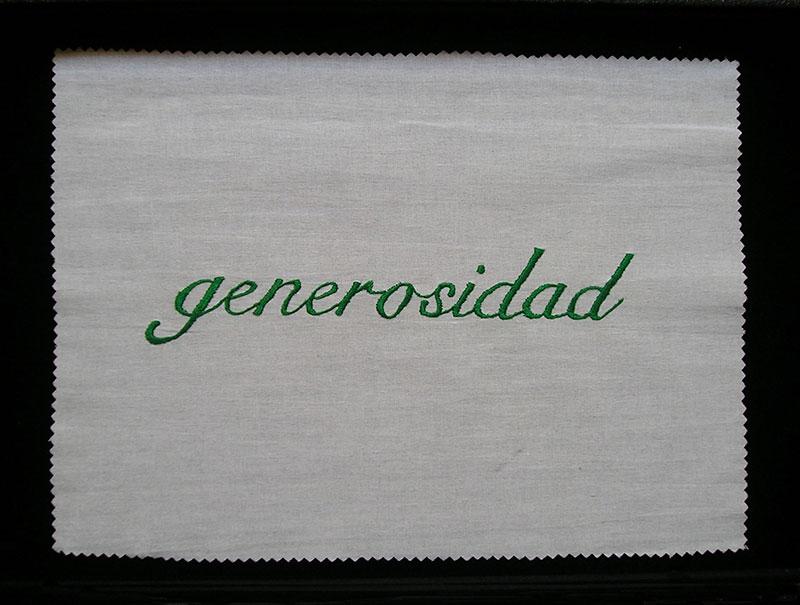 Generosidad, serie Las siete virtudes, 2001