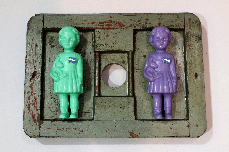 La Niña Argentina, plástico, madera y género, 2019