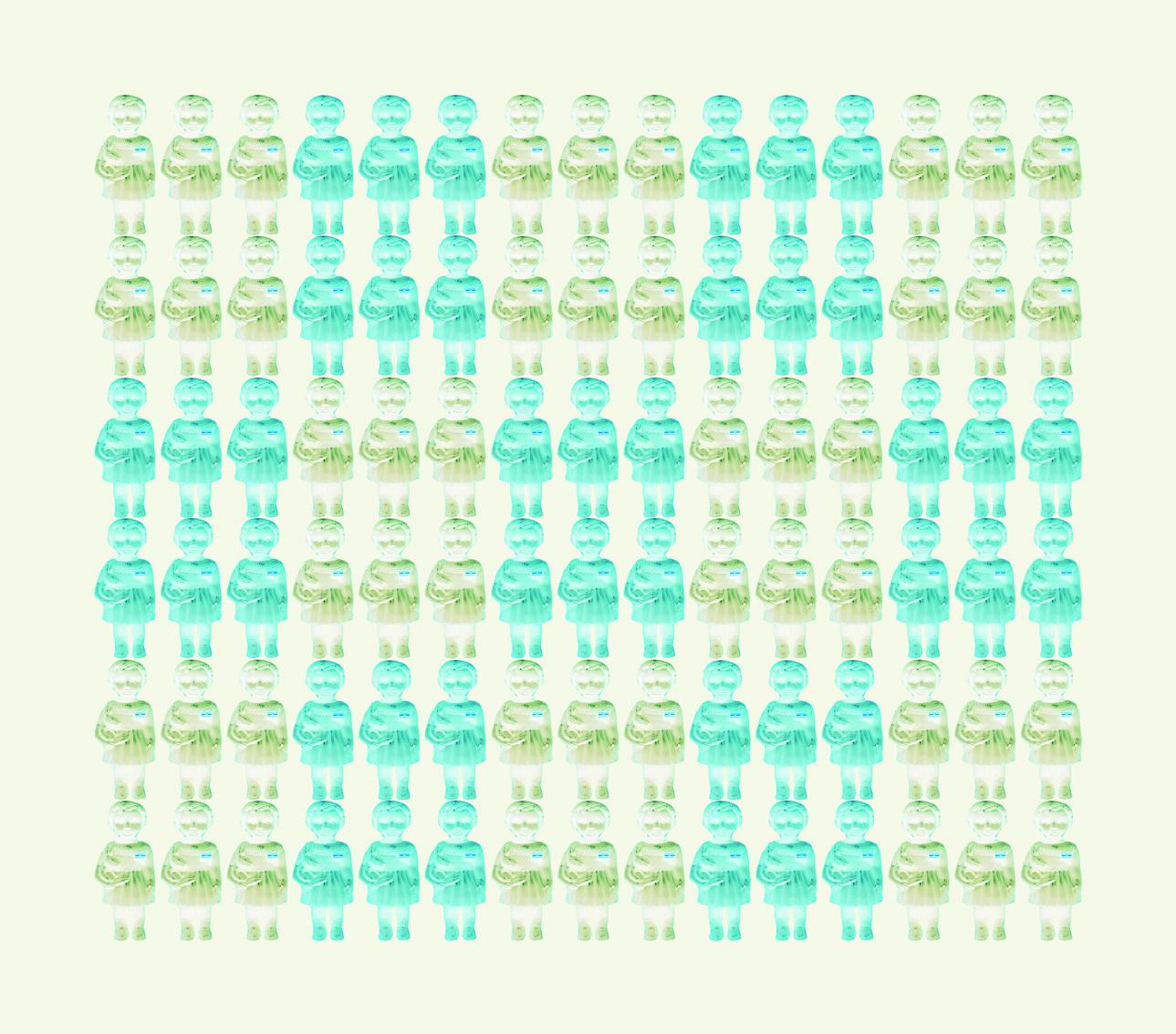 Niñas Argentinas Impresión y acrílico s.tela 100x115cm 2015