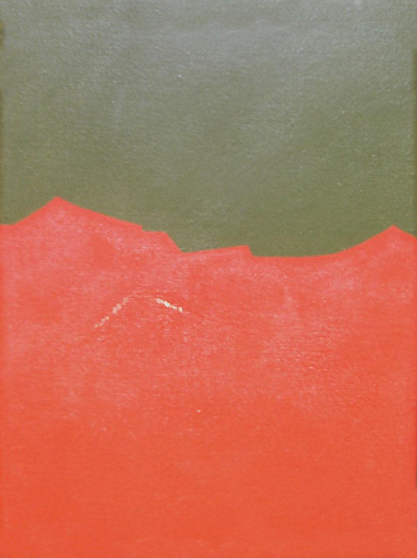 Paisajes, acrílico sobre tela,18 cm x 24 cm,1974
