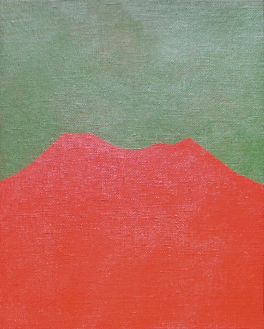Paisajes , acrílico sobre tela,18 cm x 24 cm,1984
