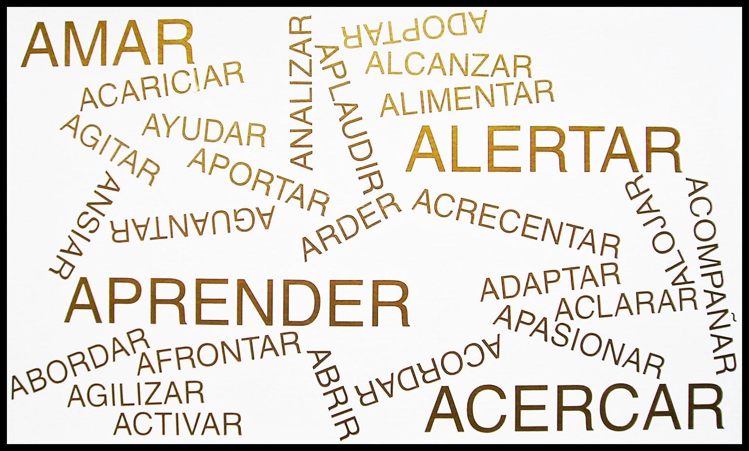 Abecedario, A, papel collage, 29 cm x 49 cm, 2003