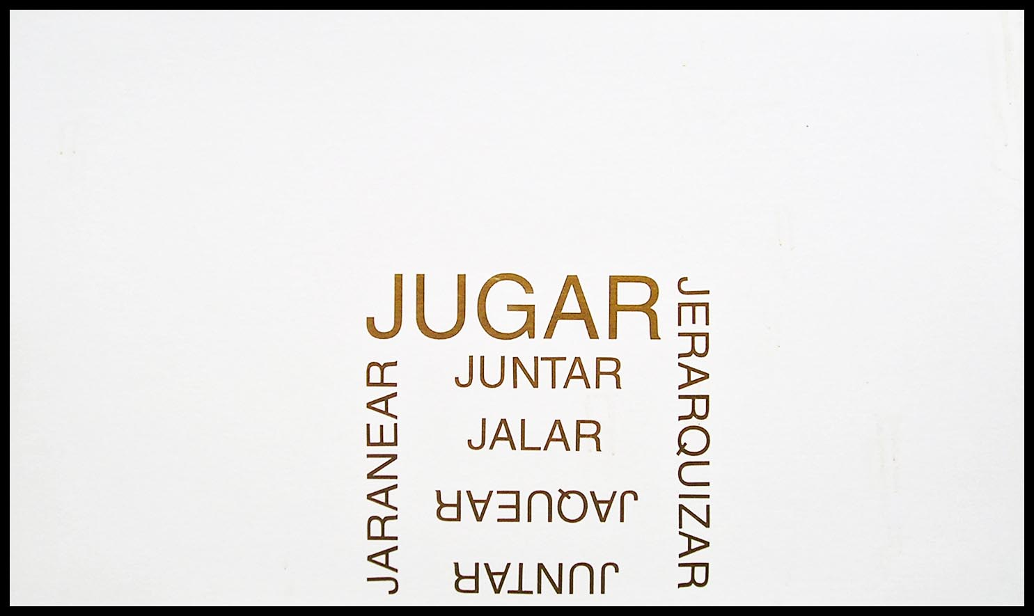 Abecedario, J; papel collage, 29 cm x 49 cm, 2003
