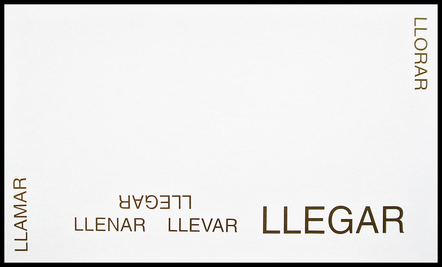 Abecedario, LL; papel collage, 29 cm x 49 cm, 2003