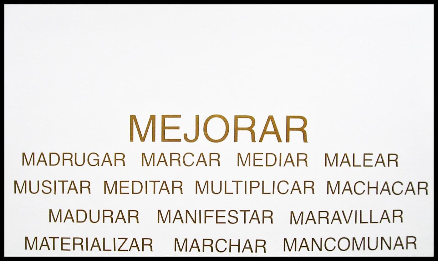 Abecedario, M; papel collage, 29 cm x 49 cm, 2003
