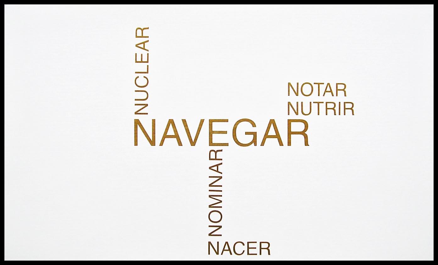 Abecedario, N; papel collage, 29 cm x 49 cm, 2003