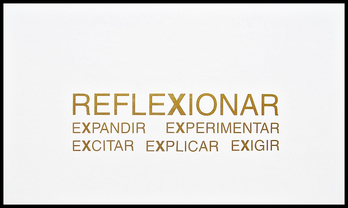 Abecedario, X; papel collage, 29 cm x 49 cm, 2003