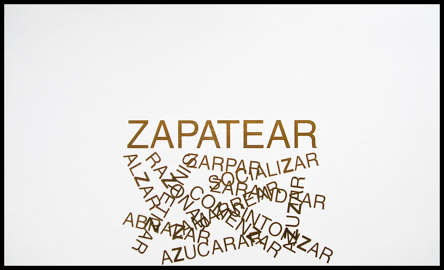 Abecedario, Z; papel collage, 29 cm x 49 cm, 2003