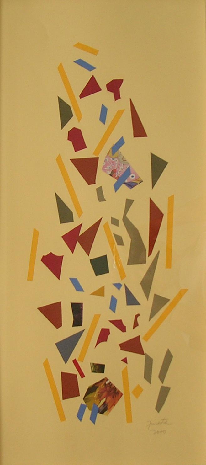 Alegoría X, papel collage 80 cm x 35 cm, 2000
