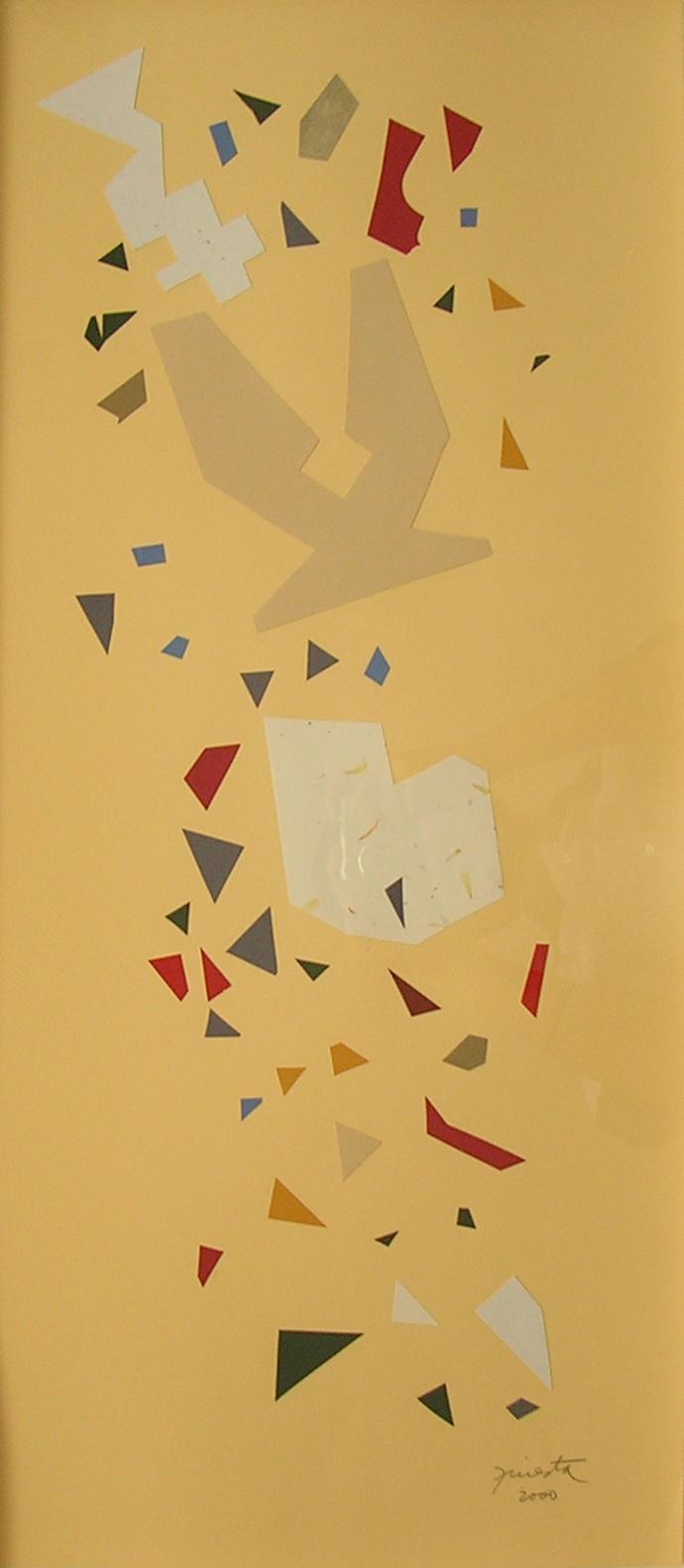 Alegoría IX, papel collage 80 cm x 35 cm, 2000